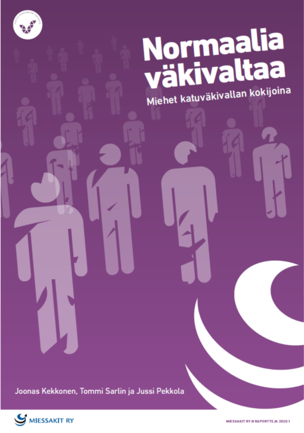 Kuvassa Normaalia väkivaltaa -raportin kansi.